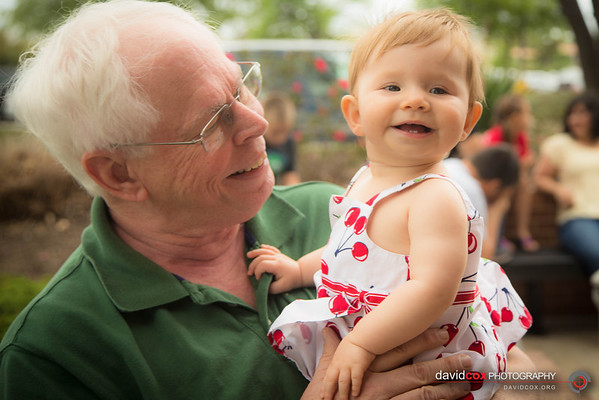Madeline with Grandpa Cox